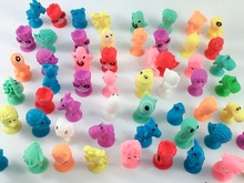 100Pcs/lot Normal Soft Plastic Sucker Dolls Mini Monster Suction Cup Kids Ocean Animal Capsule Model Collector Action Figure Toy
