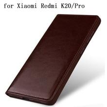 Redmi K20 Caso Genuíno de Luxo Acessórios Do Telefone de Couro Protetora Da Pele para Xiaomi Redmi K20Pro free Screen Protector