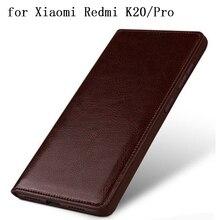 Роскошный чехол для Redmi K20, аксессуары для телефона из натуральной кожи, защитная пленка для Xiaomi Redmi K20Pro, Бесплатная защита для экрана