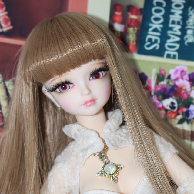 1/4 BJD Joint Body with makeup Golden Hair 45cm Forturn Days Special Offer Free Shipping