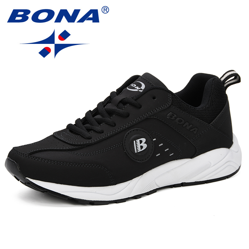 BONA 2019 Spring Casual Shoes Men Breathable Shoes Tenis Masculino Shoes Zapatos Hombre Sapatos Outdoor Shoes