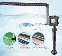 SUNSUN 12W 20W Multi function Aquarium Submersible Pump Fish Tank Oxygen Water Filter Pump UV Sterilizer UVC Lamp w/ Spray Bar