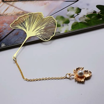 12pcs lot Customized gold leaves Gold Graduation Anniversary Souvenirs New Year Birthday party return gift Bookmark gifts