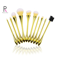 Princess Rose 10pcs Gradient Small Waist Makeup Brushes Pro Professional Make Up Brush Set with Box Yellow Pennelli Trucco