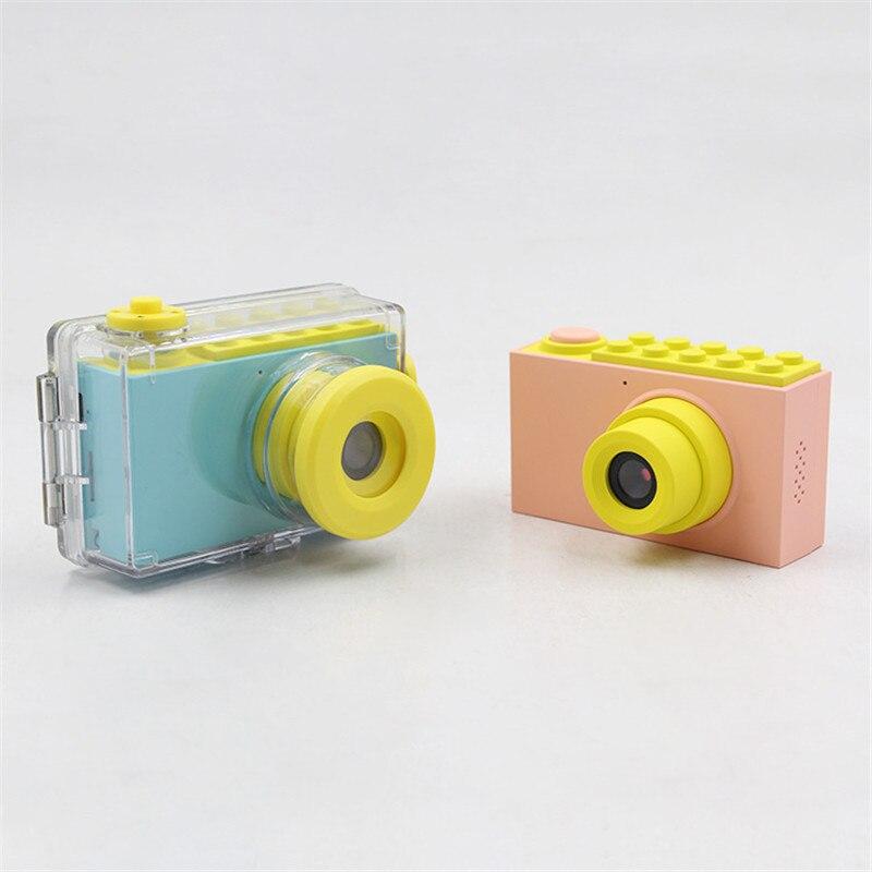 Enfants Mini appareil photo numérique jouets enfants éducation jouet appareil photo numérique avec couverture étanche autocollants faciles à poser cadeau d'anniversaire - 2
