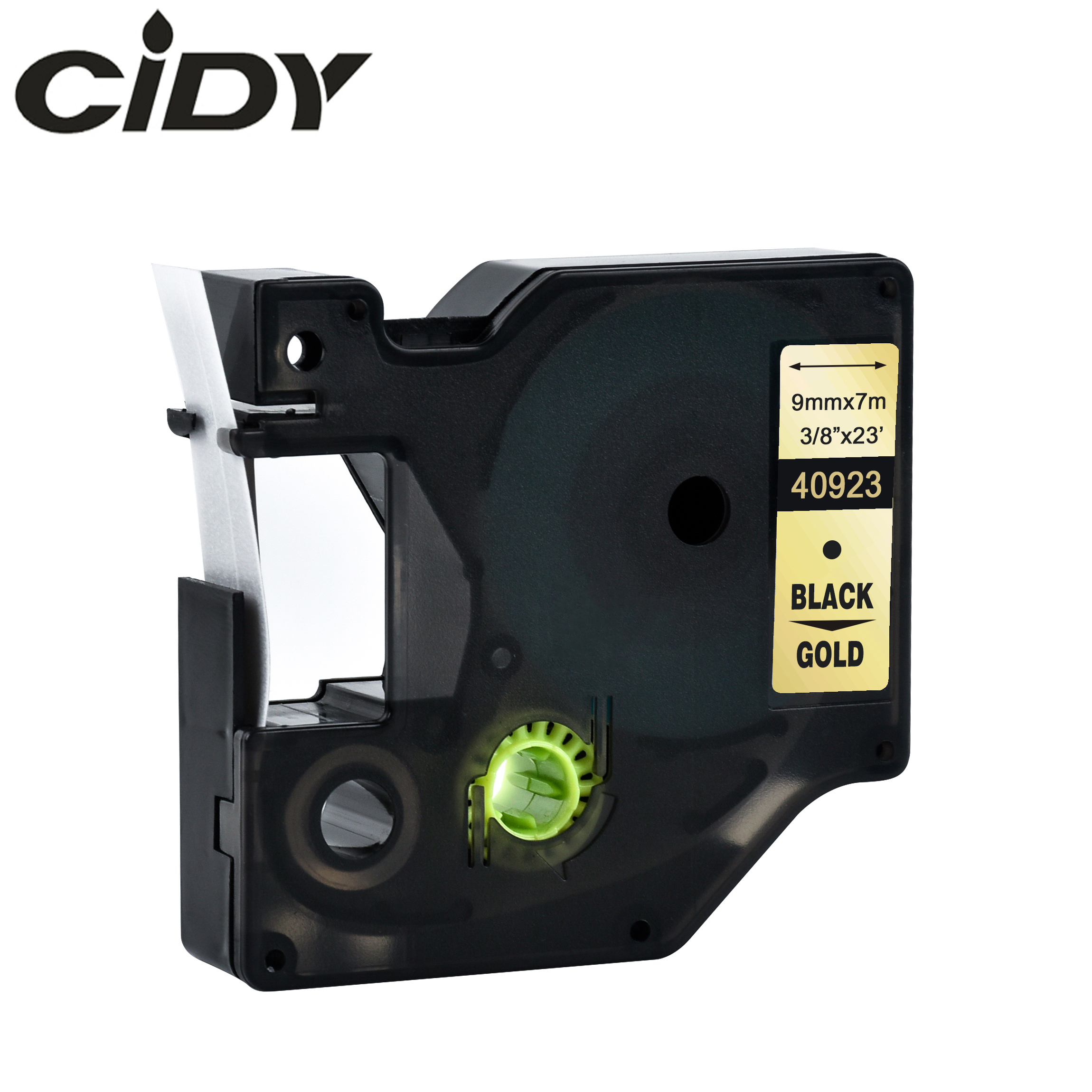 Cidy 40923 Compatible Dymo D1 Manager 9mm Black On Gold For Dymo Label Printer Label Tape For Dymo Label Manager LM 160 280