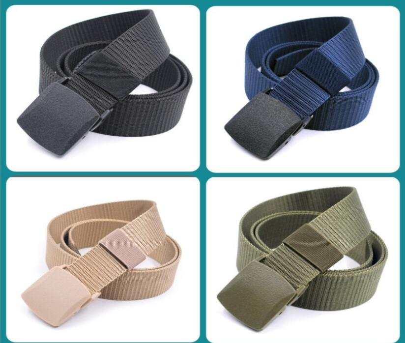 Hot sale Men /women belt High Quality Automatic Buckle Nylon Belt OutdoorTravel Tactical Waist Belt Unisex add long Belts 140cm(China)