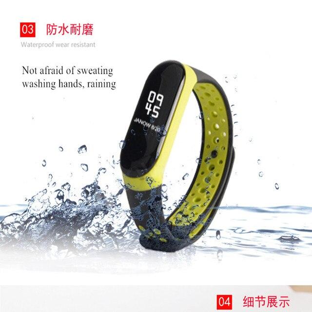 Mi Band 3 strap sport Silicone watch wrist Bracelet miband3 strap accessories Mi band3 bracelet smart for Xiaomi mi band 3 strap 3