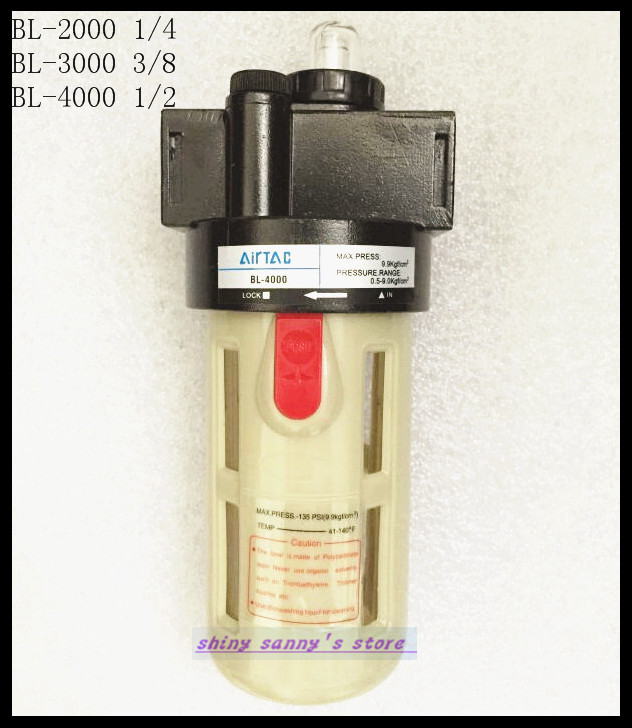 1Pcs BL-4000 BSP 1/2 Adjustable Pressure Air Pneumatic Lubricator Brand New цена