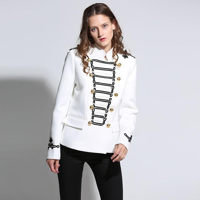 79a275efa3018 Napoleón Militar chaqueta vintage blanco embellecido chaqueta Napoleon  chaqueta doble breasted oro Botones Militar chaqueta