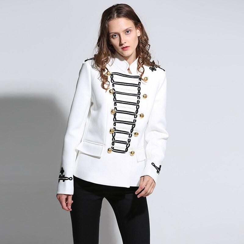 Napoleon Military Jacket Vintage White Embellished Jacket