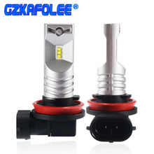 Gzkafolee 2pcs h11 led h9 h8 led H16 JP Car Fog lamp CSP Y19 6500K 3600LM White Car Driving Daytime Running Lamp