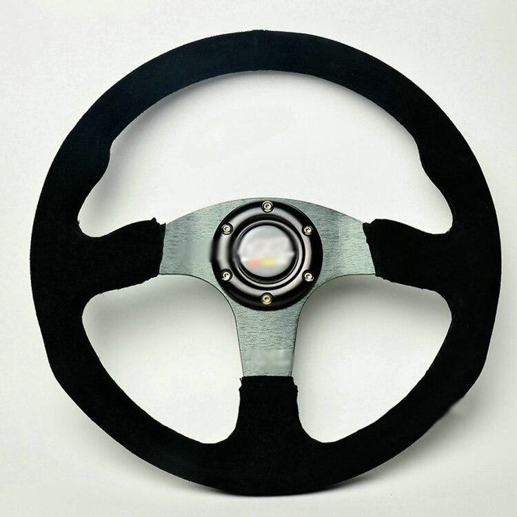 Ipoboo Новый Универсальный спортивный 517/350 мм замши глубокое блюдо руль черный