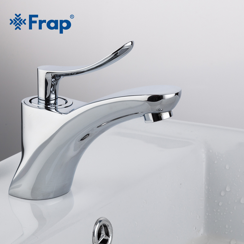 Frap New 1set Classic Style Bathroom Basin And Sink Faucets Chrome Bath Tap Cold And Hot Water Mixer Single Handle Tap  F1081