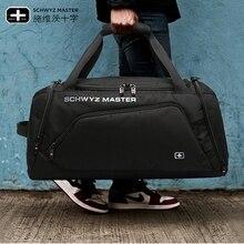 حقيبة سفر للرجال والنساء حقيبة رياضية للتدريب واللياقة البدنية حقيبة سفر قصيرة حقيبة أمتعة ذات سعة كبيرة A4837