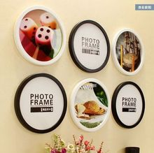 Wholesale High-grade Solid Circular Wooden Frame Home Decoration Furnishing European Style Creative Studio Photo Wall Frame