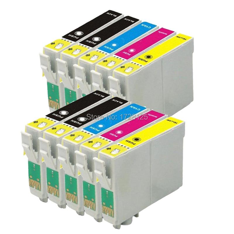 10x t0891/t0711 t0715 xl kompatibel tintenpatrone für epson stylus sx100 sx105 dx...