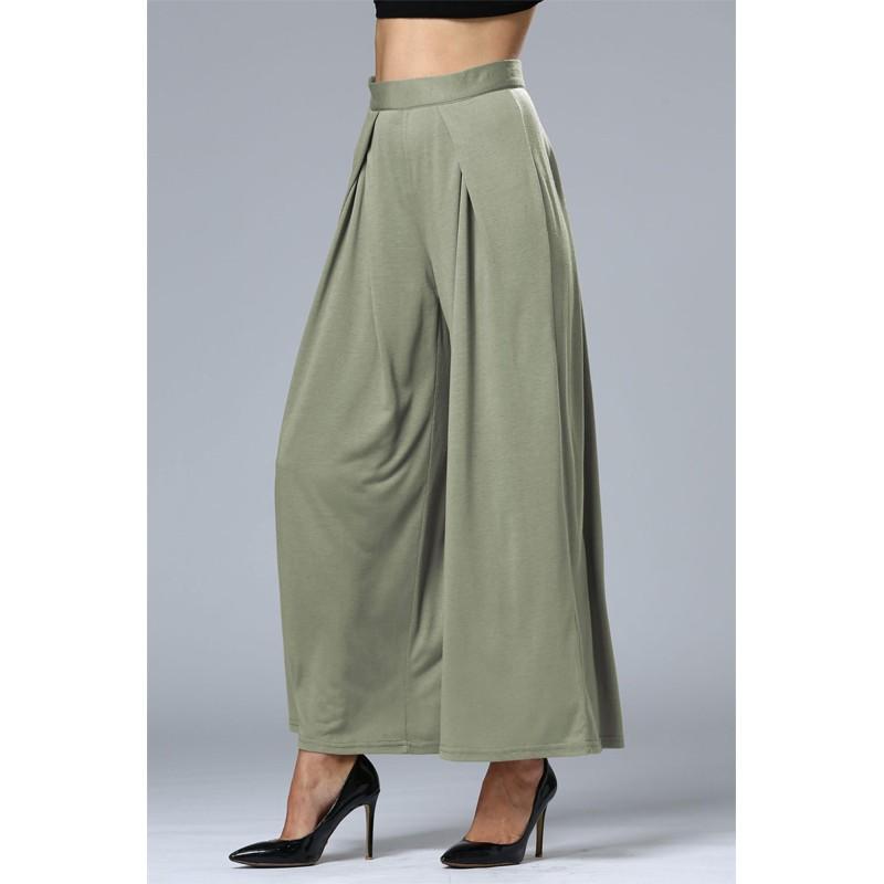 HTB1Bzf OFXXXXX3XVXXq6xXFXXXZ - Wide Leg Pants High Waist Long Pants Button Office Work Wear PTC 186