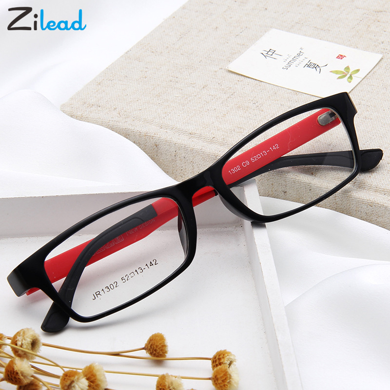 Zilead Retro Square Anti Blue Light Plain Glasses Women&Men Optical Spectacle Glasses Myopia Eyeglasses Frames For Female&Male