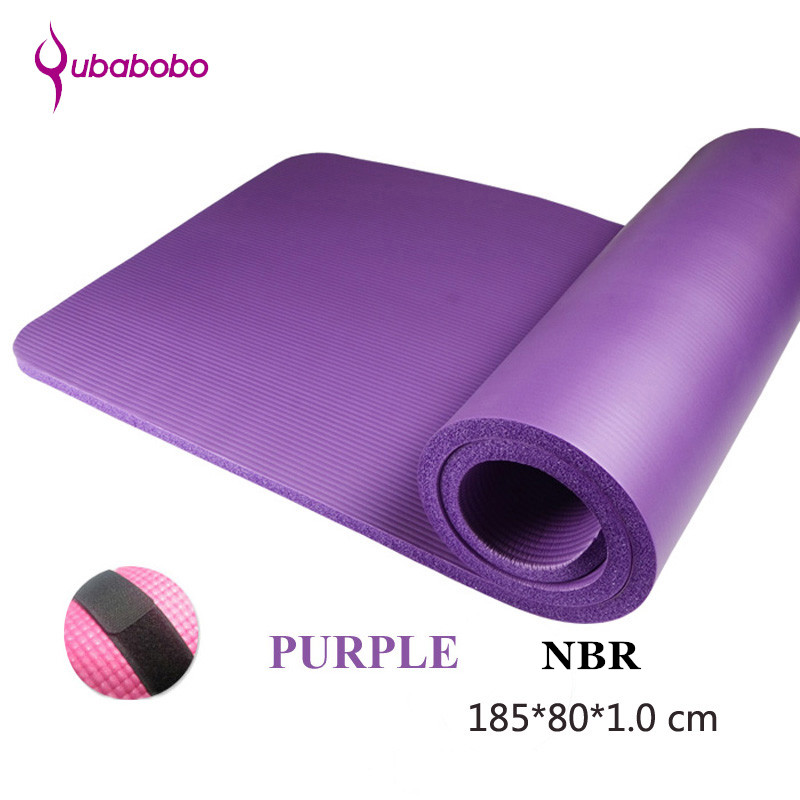 10MM NBR Non-slip Unisex Brand Yoga Mats For Fitness Pilates Pads Yoga Carpets Sports Mats Massage Mats Beach Mats 185*80*1.0 cm new yoga pilates exercise high density eva foam massage roller fitness home gym massage