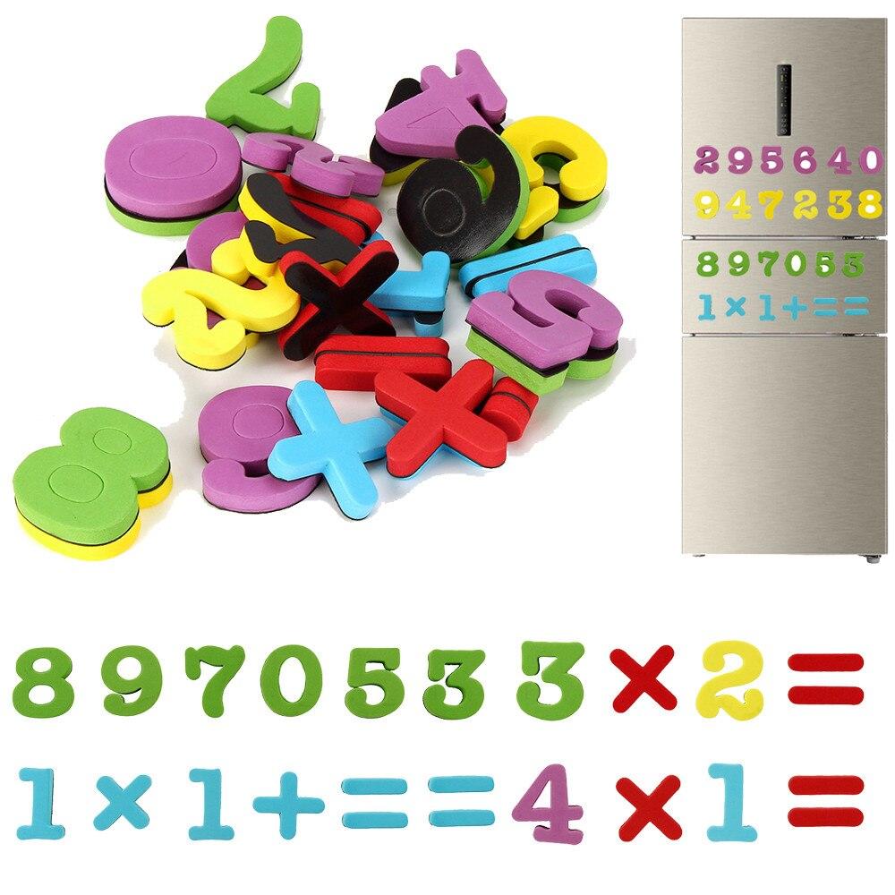 Горячая 2017 28 шт. Ева цифровой магнит на холодильник Малыш Детские развивающие игрушки Игрушки для ванной Рождество Игрушечные лошадки челн...