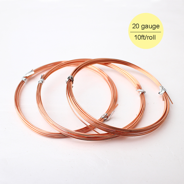 3m 0.8mm 20 Gauge Soft 99% Purity Solid Shining Bare Copper Wire ...