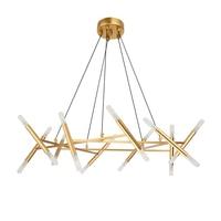 Post modern Nordic Chandelier simple modern branch restaurant acrylic lampshade art creative led E14 lamp long shaped droplight