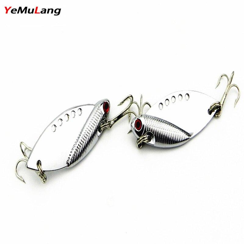 YeMuLang 1 pieza 5 cm Metal VIB Hard Fishing Lure Bass CrankBait - Pescando