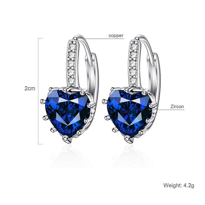 Fashion 5 Colors AAA CZ Element Stud Earrings For Women Vintage Crystal Earrings Statement Women Wedding Jewelry A13