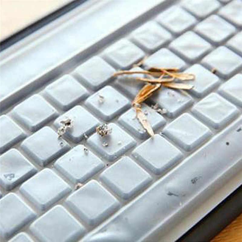 1PC Silikon Universal Desktop Komputer Keyboard Cover Kulit Pelindung Penutup