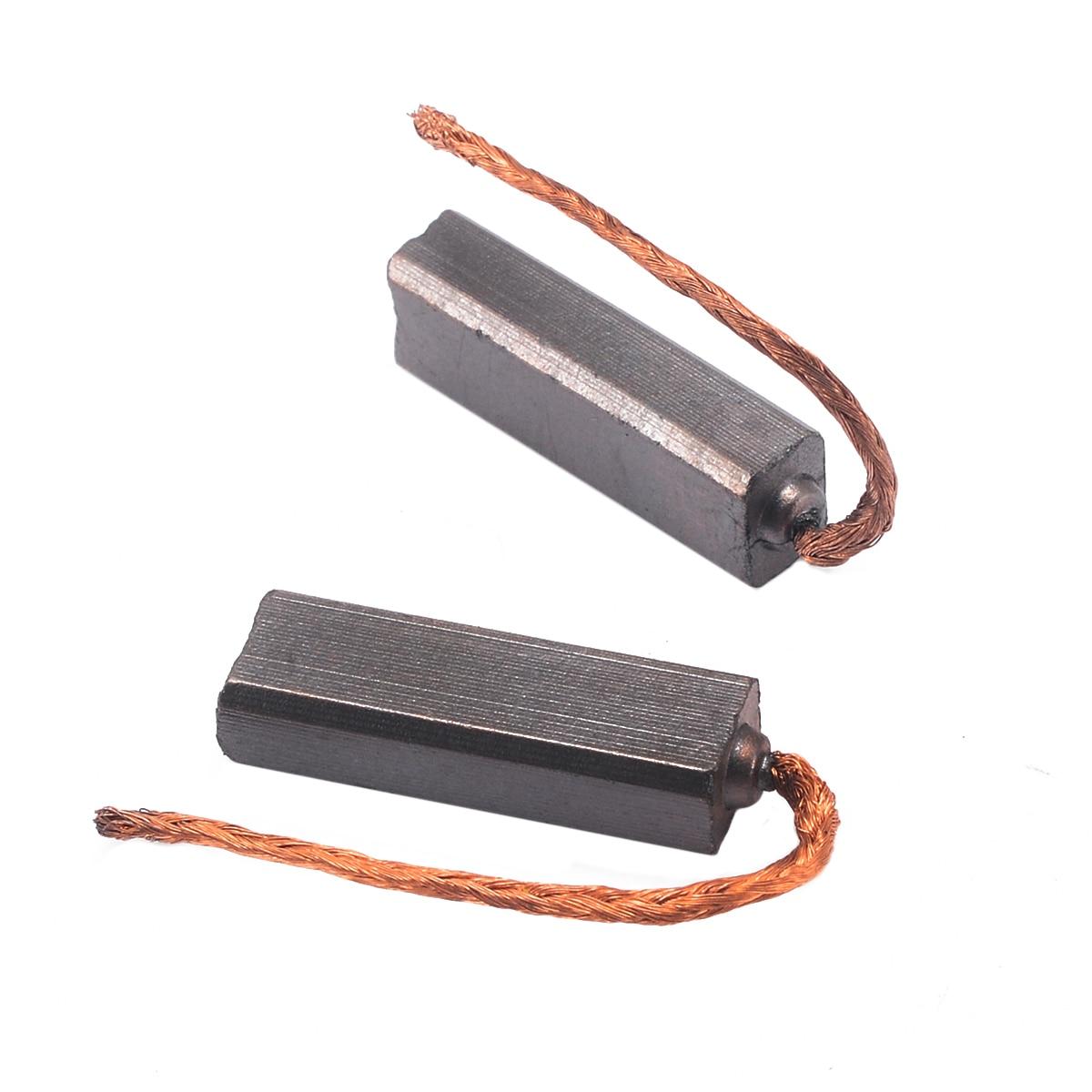 10pcs/set Mini Electric Motor Carbon Brushes Wire For Automotive Car Generator Generic Conductive Motor Brush 4.5X6.5X20mm
