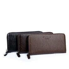 POLO FANKE Marke mode für männer brieftasche reißverschlüsse lange design brieftaschen mit ein kartenhalter pu-leder geldbörse Männliche handtasche 3 farben