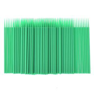 Image 4 - 100pcs / bag Disposable Eyelash Extension individual Micro Brush Applicators Mascara Wands for eyelash extension Tools wholesale