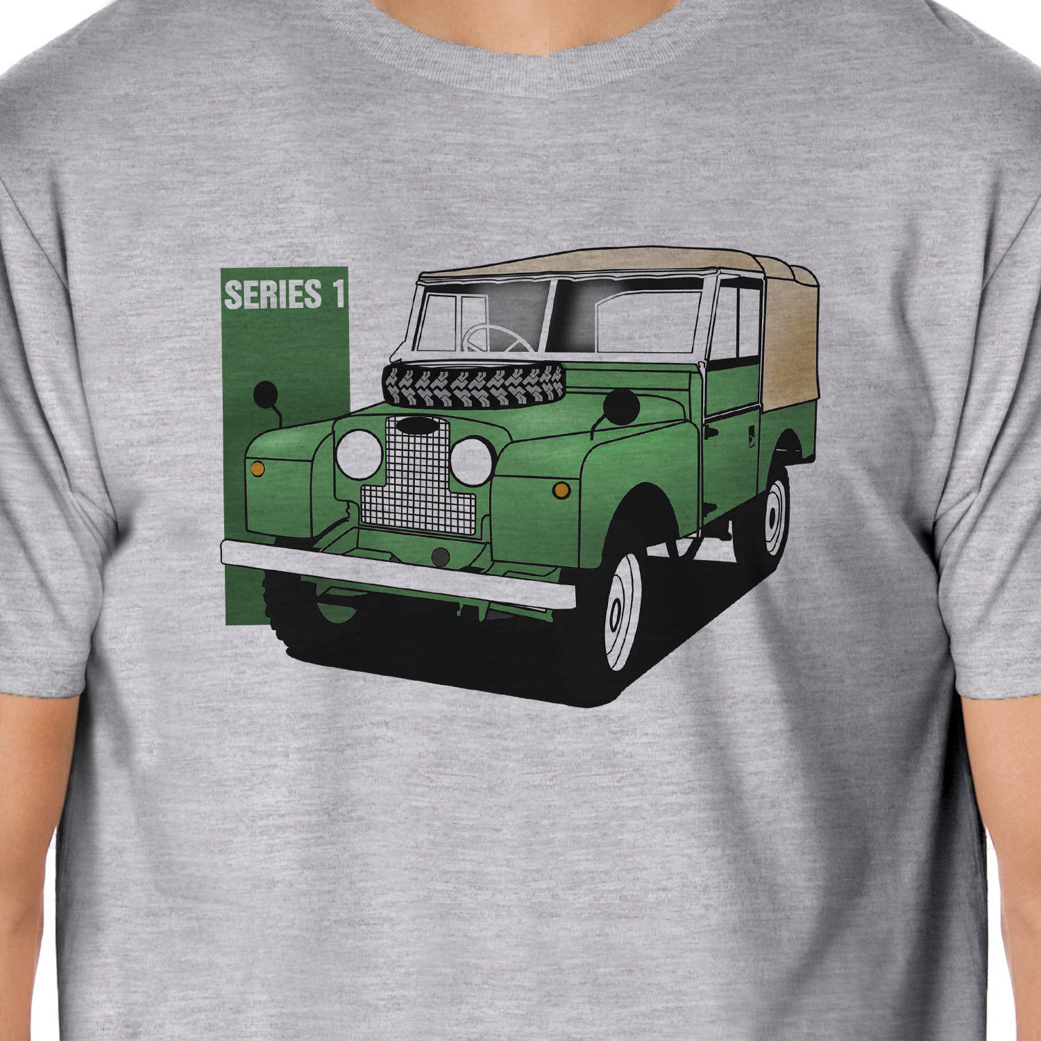 2018 Hot Sale 100% cotton Artcars - Classic Land Rover Series 1 Inspired T-Shirt Summer Style Tee shirt ...