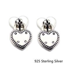 ФОТО ckk 925 sterling silver love locks stud earrings for women original fashion jewelry anniversary making gift
