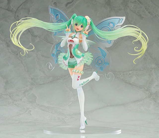 Hot Sale Racing Miku  Japan Vocaloid Idol Hatsune Miku GSC Butterfly Wing 23cm Tony Action Figure Toys