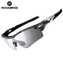 ROCKBROS Polarized Cycling Glasses Photochromic Bike Glasses Sports Fishing MTB Bicycle Sunglasses Goggles Eyewear Myopia Frame