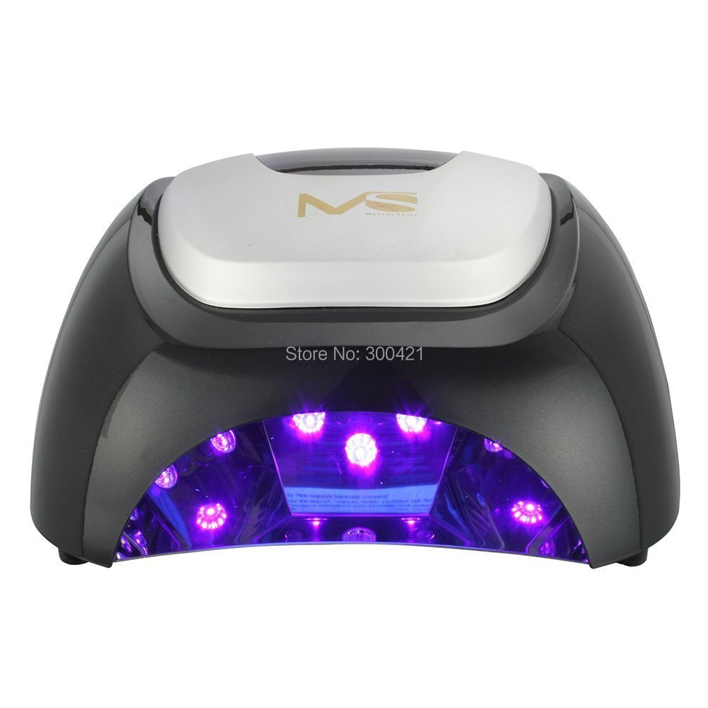 MelodySusie purple Light Professional 48W LED Lamp Nail Dryer Polish Machine for Curing Nail Gel Art Tool black and red 2 color melodysusie 12w lamp nail for nail polish gel fast dry curing nail tools black white pink 2 colors nail dryer free shipping