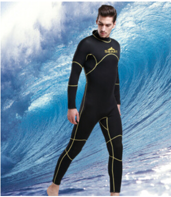ФОТО SBART 2017 Men 3mm neoprene wetsuit winter wet suit triathlon suit men scuba diving suit one piece professional swimwear