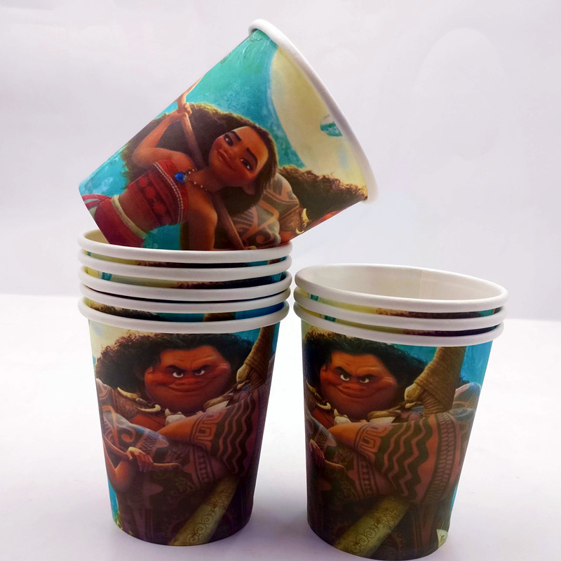 Detail Feedback Questions About 10pcs Baby Moana Princess Party Decorations Personalized Disposable Cups Birthday Supplies Ideas Favor