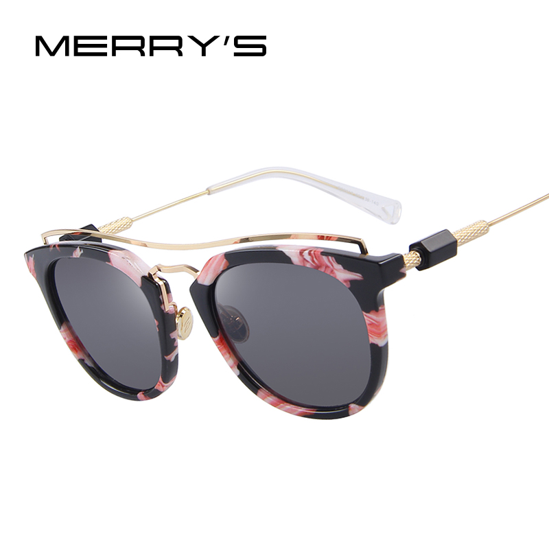3a9c55a5771ab MERRY S Women Vintage Cat Eye Sunglasses Double beam Frame Coating Mirror  Lens S 8047-in Sunglasses from Women s Clothing   Accessories