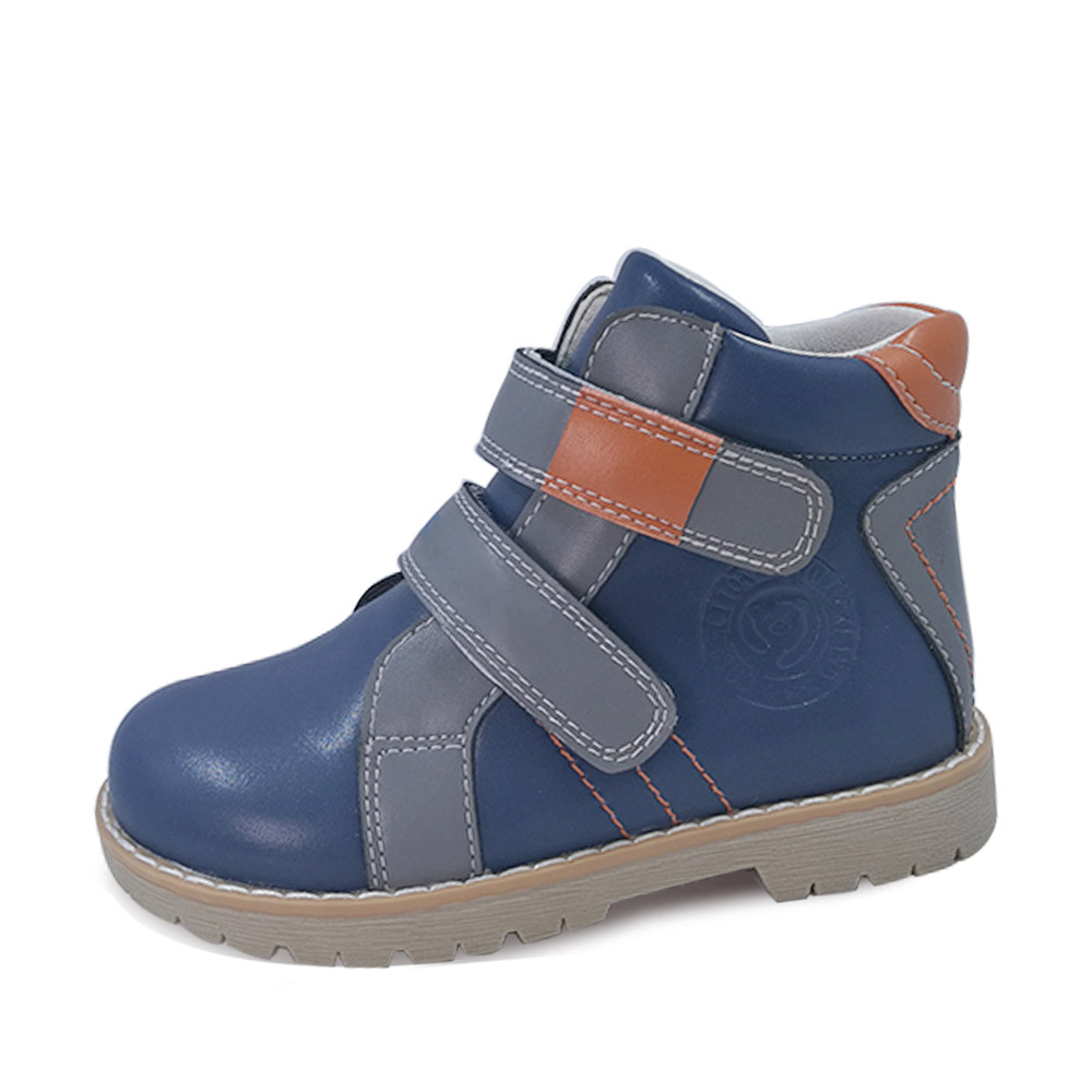 Image 5 - Kids Genuine Leather Casual Shoes Baby Orthopedic Shoes Girls Autumn Spring Brown Navy Blue Purple Ankle Boots For Child-in Sneakers from Mother & Kids