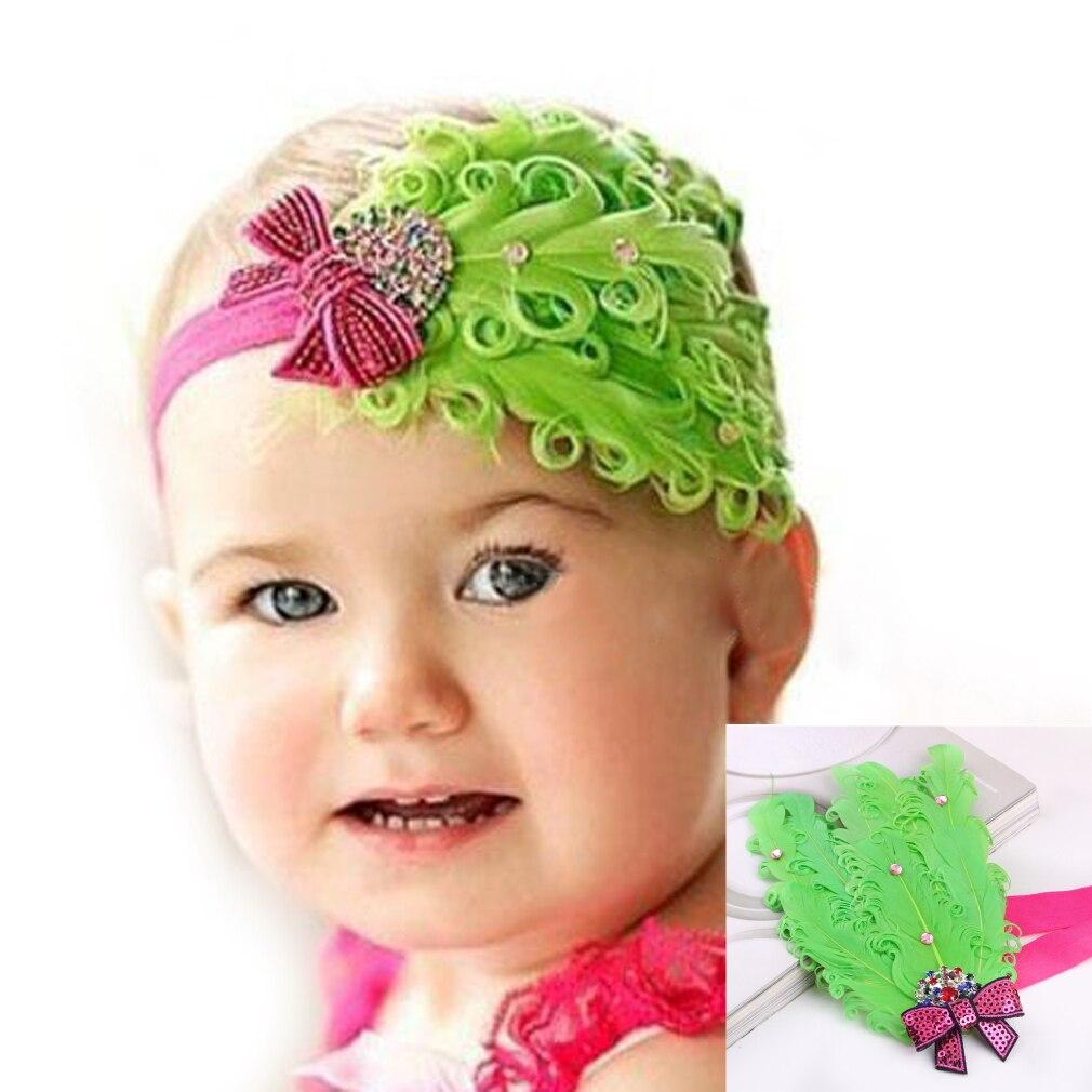 Toddler Baby Girl Bowknot Feather Hairband HeadBand Headwear Hair Accessory Baby Headband Clearance