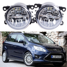For FORD FOCUS Fusion TRANSIT Tourneo Fiesta C-Max TOURNEO GRAND C-MAX 2002-2015 Car styling LED fog lights High power Fog lamps