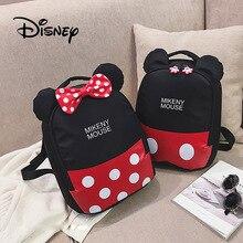 Disney Child Anti-lost Backpack Cartoon Plush Schoolbag For Kids Mickey Minnie Student Bags Children Backpacks Mochila Infantil