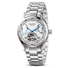 Genuine Seagull watch m163s Flywheel Double Retrograde Date Exhibition Back Automatic Men's Watch M163S цена