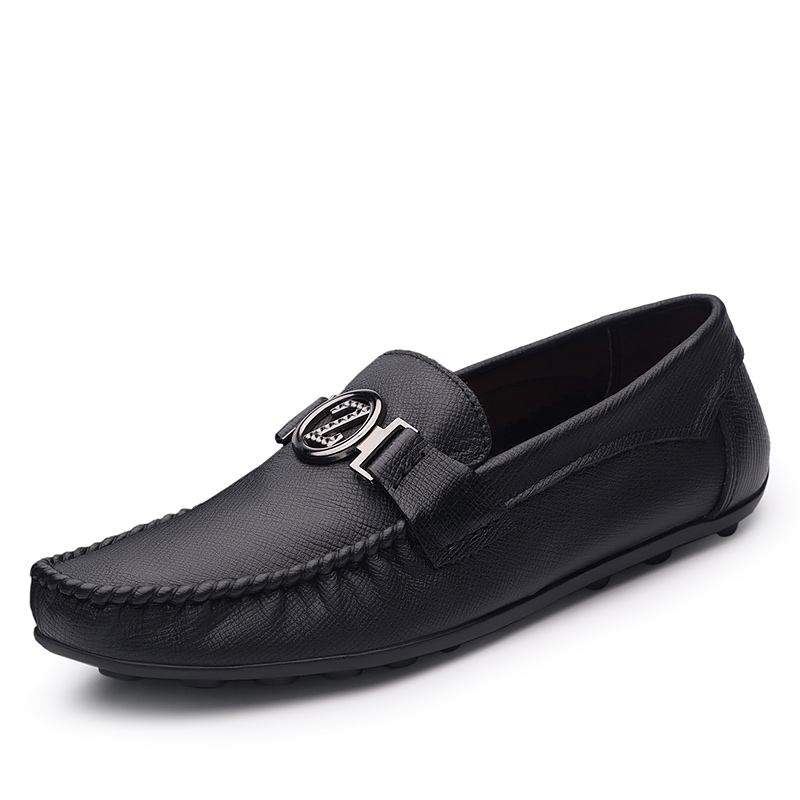 2019 Men Leather Party Dress shoes Breathable Fashion Wedding Casual Male Flats High Quality Split Loafers soft Black Shoes in Men 39 s Casual Shoes from Shoes