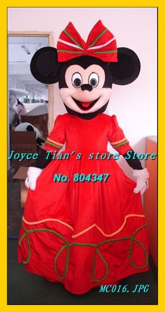 Newest professional cartoon character Red Minnie mouse costume Cartoon Mascot Character Costume Free & Promotion!! Newest professional cartoon character Red Minnie mouse ...