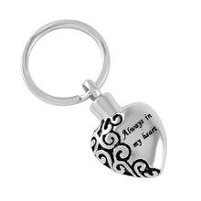 Always in My Heart Urn Keychain