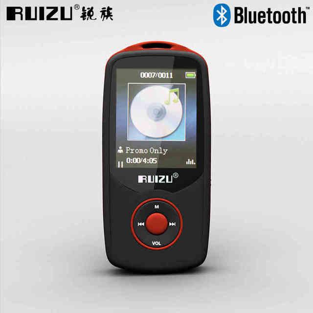 RUIZU X06 Bluetooth Reproductor de MP3 4 GB 100 Horas Sin Pérdida de Deportes MP3 Reproductor de música de 1.8 Pulgadas de Pantalla Ebook FM TF Grabación de Vídeo Auricular